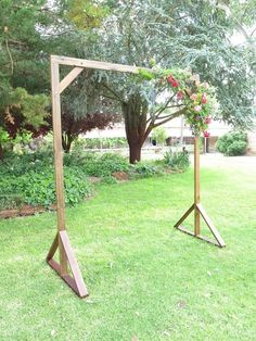 Handcrafted Timber Wedding Arch Backdrop