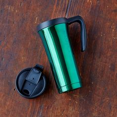 Stainless Steel Tumbler with Handle - Green, 16 fl oz, $19.95 at store.starbucks.com.