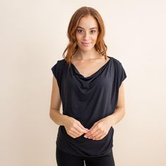 Women's Reversible Cowl Neck Travel Shirt | The Evolve Top | Encircled Comfy Dresses, Different Dresses, Cowl Neck Top, Professional Look, How To Feel Beautiful, Capsule Wardrobe, Casual Looks, Work Wear, Clothes For Women