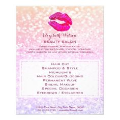 red violet lips professional makeup artist flyer - red gifts color style cyo diy personalize unique