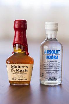 Homemade Vanilla Extract. Bourbon or vodka (sampler size) with split vanilla bean soaked.