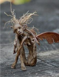 ~ OOAK (one of a kind) figurative art dolls by Candice Cinque. Sculpture in the form of realism, fantasy, faerie, fairy, and cultural themes. Magical Creatures, Fantasy Creatures, Fairy Art, Fairy Dolls, Fairy Houses, Garden Art, Garden Ideas, Wood Art, Fantasy Art