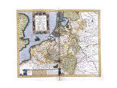 Map of Belgium, Pages 296-297 of 'Atlas Sive Cosmographicae Meditationes De Fabrica Mundi Et Fabricati Figura'