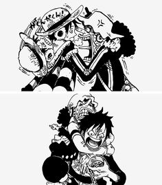 Luffy and Usopp One Piece Funny, One Piece Comic, One Piece Fanart, One Piece Drawing, One Piece Manga, Zoro, Chopper, Anime Lineart, Anime D