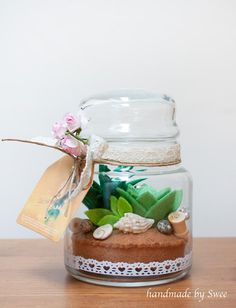 """I made this felt terrarium for my home. :) It was fun to make!"" - Swee www.swiedebie.com"