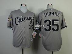 e25f8662 Men's MLB Chicago White Sox #35 Thomas Grey Jersey Cheap Baseball Jerseys,  Nhl Jerseys