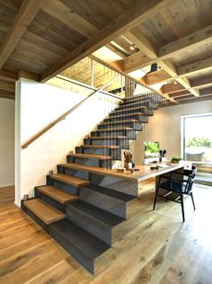 #stairway joined w/office desk