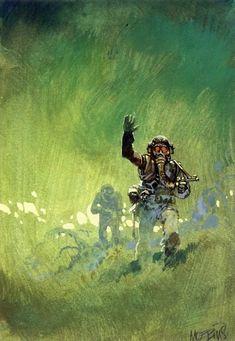 Drawings by Moebius (Jean Giraud) Jean Giraud, Illustrations, Illustration Art, Nogent Sur Marne, Cyberpunk, Moebius Art, Arte Sci Fi, Heavy Metal Art, 70s Sci Fi Art