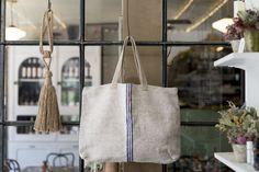 Antique Textile Tote Bag
