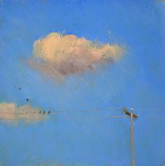 "Duane Keiser   OIL   ""Birds on a Wire"""