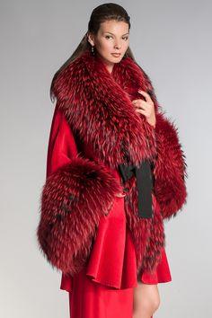 Designer Clothes, Shoes & Bags for Women Fur Fashion, Winter Fashion, Womens Fashion, Fur Jacket, Fur Coat, Animal Print High Heels, Red Fur, Fur Clothing, Vintage Fur