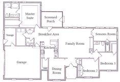 3 Bedroom Ranch Floor Plans Floor Plans Aflfpw75216 1