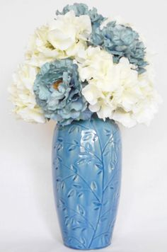 artificial flower arrangement teal peonies u0026 by