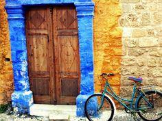 blue door Rhodes by Kerasopites