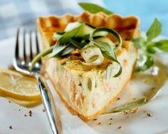 Tarte saumon courgette Cuisine AZ http://www.cuisineaz.com/recettes/tarte-au-saumon-et-aux-courgettes-48265.aspx