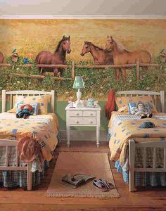 Little Girl's Horsey Bedroom