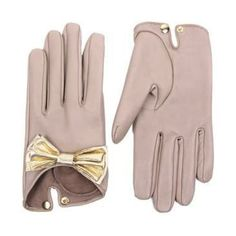 Leather Gloves + Bow