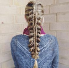 Middle part fishtail by Abigail Rose