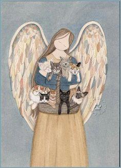 Anjo com animais