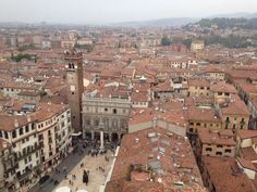 Verona downtwon view form the Torre of Lamberti, Italy