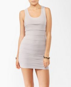 Tiered Pintucked Bodycon Dress from Forever21.com