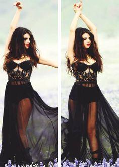 Transparencia negra vestido