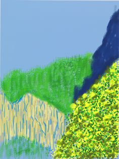 Yosemite, Sent From David Hockney's iPad - -Wmag