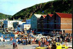 Finnmark fylke Hammerfest folkeliv på kaia 1970-tallet Utg H.A. Amundsen, Hammerfest