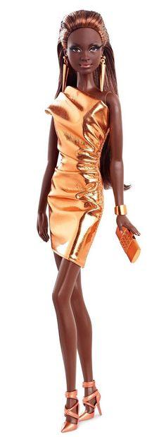 THE BARBIE LOOK CITY SHINE BLACK AFRICAN AMERICAN DOLL BRONZE DRESS NIB #Mattel #Dolls #blackdoll #africanamerican #bronze #barbie #barbiedoll #fancy #toys