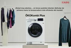 ¿Crees que es posible #cuidar tu ropa #ahorrando energía?   La #lavasecadora #ÖKOKombiPlus #seca tan bien como #lava y reduce significativamente el consumo de agua y de energía, convirtiéndola en la más #eficiente del mercado. #futurodelaropa