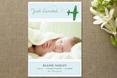 Fly By Baby Birth Announcements by hobson studios at Minted.com   Totally cute.... @Drew Davis Wilson