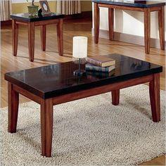 Black Granite Coffee Table- granite wont scratch!