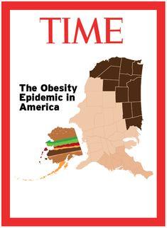 Obesity in America by Ricky Linn time student obesity illustration america