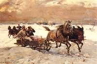Find artworks by Alfred von Wierusz-Kowalski (Polish, 1849 - on MutualArt and find more works from galleries, museums and auction houses worldwide. Classic Paintings, Paintings I Love, Horse Paintings, Mediums Of Art, Dashing Through The Snow, Year Of The Horse, Art Corner, Sketch Painting, Russian Art