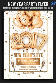 #New #year #Party #Flyer - #Clubs & #Parties #Events Download here: https://graphicriver.net/item/new-year-party-flyer/19166478?ref=alena994
