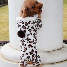 Dog Coat Dog Clothes Pet Apparel - Brown Leopard grain 2015 – $9.99