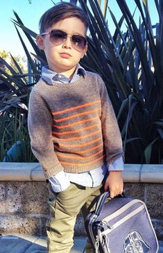 The 5-Year-Old Boy Who's Become an Instagram Style Icon: Wearing Gucci shades, Stella McCartney sweater    Photo: Luisa Fernanda Espinosa