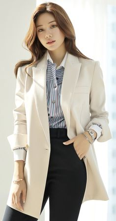 Korean Women`s Fashion Shopping Mall, Styleonme. Stylish Work Outfits, Classy Outfits, Pretty Outfits, Casual Outfits, Cool Outfits, Korean Girl Fashion, Korean Fashion Trends, Ulzzang Fashion, Suit Fashion
