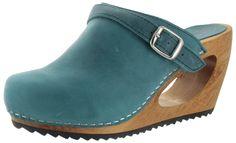 Sanita Randy Women's Wedge Wooden Clogs Shoes | eBay