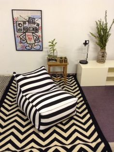 black and white stripes beanbag chair, gift for christmas,gift for teens,gift for Christmas