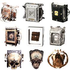 Photographer Wayne Martin Belger's pinhole cameras.