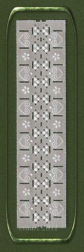 White bookmark ,Project by Ewa Maria Piechota