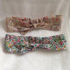 Handmade Liberty girls elasticated headband by DollyOliveShop
