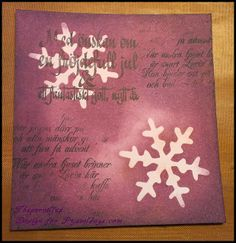 Pice of a Cristmas card. made by DT-Pernilla.  http://blog.pysseldags.com/2013/11/embossing-och-farger.html  http://shop.pysseldags.se/Pysseldags