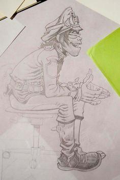 By Jamie Hewlett. Possible inspiration from Billy Boy in Stanley Kubrick's A Clockwork Orange. Damon Albarn, Tank Girl, Character Design References, Character Art, Blur, Jamie Hewlett Art, Gorillaz Art, Arte Sketchbook, Ship Art