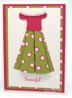 Stampin' Up! Stamping T! - Spotty Dress Cards