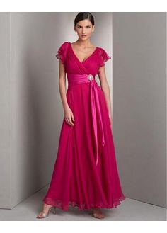 Exquisite Fabulous Beautiful Chiffon V-neck Prom Dress In Fashion Design With Great Handwork