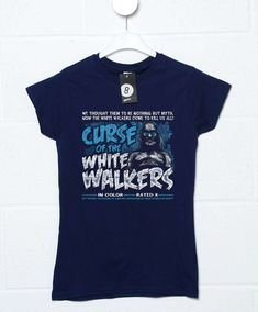 Curse Of The White Walkers Womens T Shirt - Black / 16-18