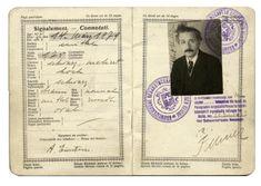 Einstein's 1923 Swiss passport, when he was a rather dashing 44-year old. .