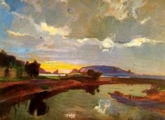 The Athenaeum - Las medas (Joaquin Mir Trinxet - Date unknown) Spanish Painters, Spanish Artists, Medan, Realistic Paintings, Beautiful Sunrise, Painting Techniques, Oil On Canvas, Canvas Paintings, Landscape Paintings